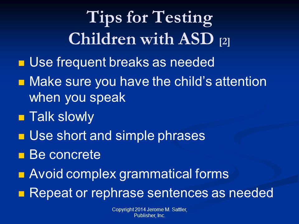 Tips for Testing Children with ASD [2]